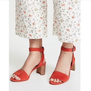 Madewell The Claudia Strappy Block Heel Sandal 9